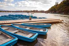 Boat Pier On The Katsura River...