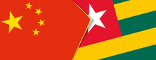 China And Togo Flags, Two Vector Flags.