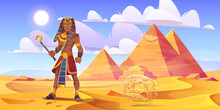 Ancient Egyptian Pharaoh In De...