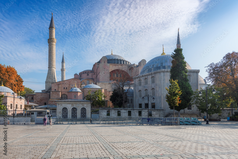 Fototapeta Hagia Sophia in Istanbul, Turkey. One of the oldest and the most prominent landmarks in Turkey.