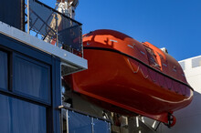 Close Up Of Life Boat On Board...