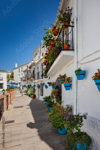 Fototapety, obrazy: Mijas village in Andalusia with white houses, Spain