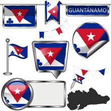 Glossy Flags Of Guantanamo, Cuba