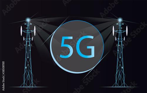 Fototapeta Realistic base station receiver