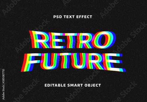 Digital Stereoscopic Glitch Text Effect Mockup