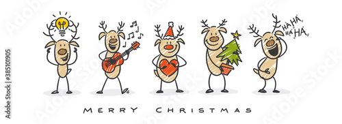 Fototapeta christmas reindeer merry christmas