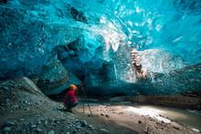 Ice Cave, Vatnatjokull Glacier, Southern Iceland, Iceland, Europe