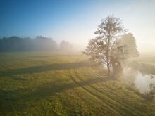 Fall Rural Scene. Small River ...