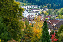 Autumn Landscape About The German City Schramberg In Black Forest