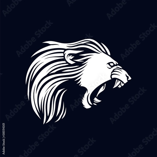 Fototapety, obrazy: angry lion character and mascot logo, lion illustration vector template