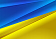 Blue-yellow background in the form of a flag. Template for presentations, brochure covers
