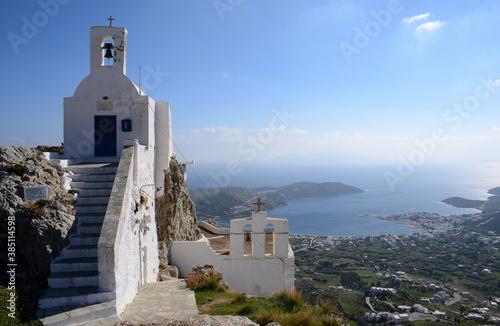 Obraz na plátně pueblos blancos de las islas ciclades en Grecia a orillas del mar Mediterraneo