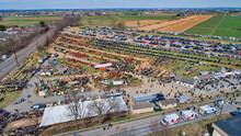 Aerial View Of An Amish Mud Sa...
