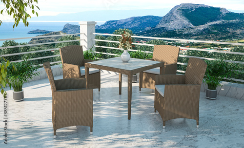 Rattan furniture exterior design
