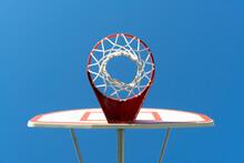 Basketball Hoop As Seen From Underneath Goal