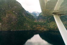 Aerial View From Seaplane In British Columbia