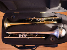 Instrument Case With Two Trumpets