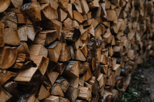 Stored Woodfire Logs