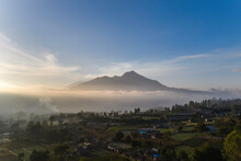 Mount Batur In Bali - Areal View