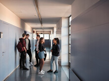 Group Of Students In A Hall