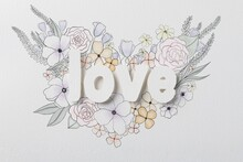 Multimedia Paper Love With Flowers