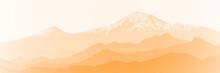 Fantasy On The Theme Of The Mountain Landscape. Mount Ararat At Sunrise. Vector Illustration, EPS10