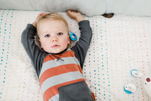 Toddler Just Awakening From A Nap