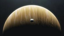Gas Giant Planet With Orbiting...