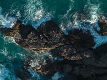 Aerial Vie Of Sea Cliffs