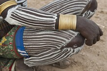 Karo Man With Painted Legs, Om...