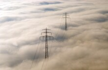 Aerial View, Electricity Pylon...