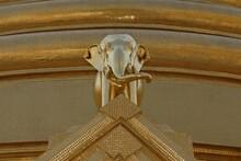 Elephant, Detail, Temples In Bangkok, Thailand, Asia