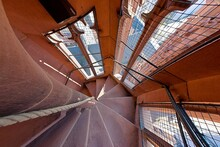 Steep Spiral Staircase In A To...