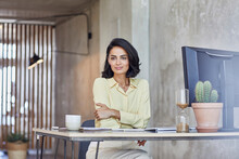 Businesswoman Contemplating Wh...
