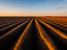 Ploughed Field Against Sky Dur...