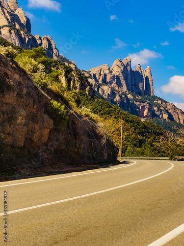 Obraz Mountain of Montserrat, Catalonia Spain. - fototapety do salonu