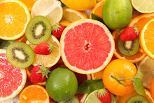 Assorted Of Citrus Fruit And L...