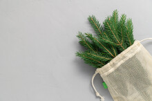 Bouquet Of Fir Branches In Fab...