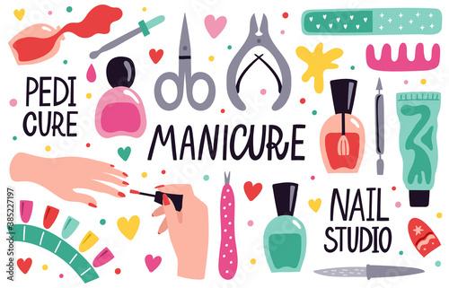Fotografija Doodle manicure equipment