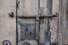 Detail Of An Old Lock Of A Rus...