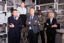 Five Pensive Adults Businesspe...