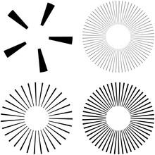 Set Of Circular Radial, Radiat...