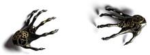 Halloween Banner Black Skeleton Hands
