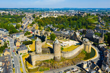 Drone View Of Medieval Fortifi...