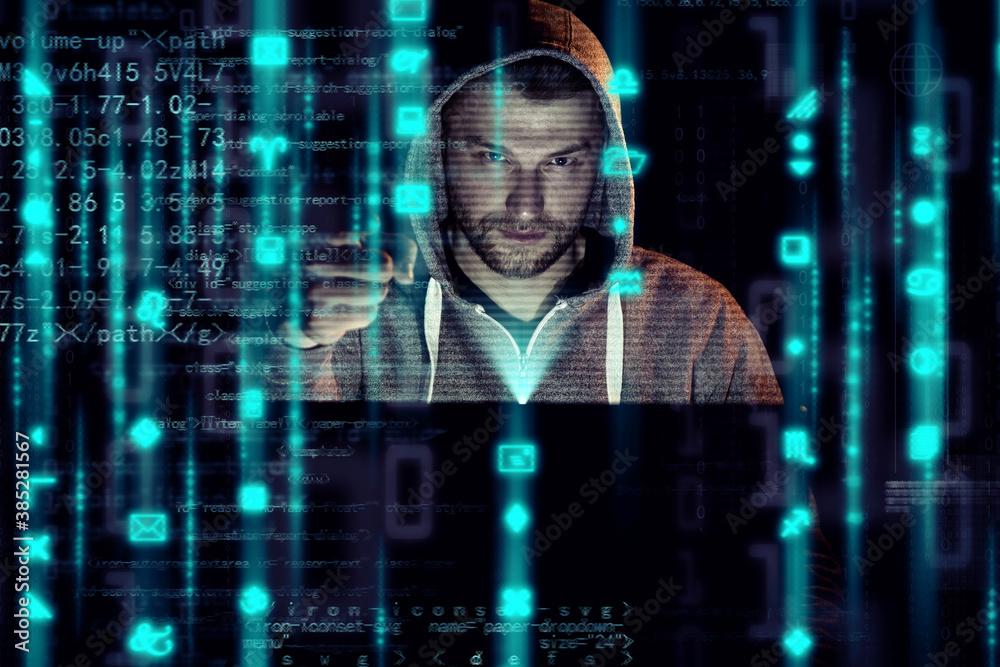 Fototapeta Hacker - Cyber Kriminalität