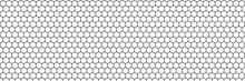 Honeycomb Hexagon Vector Pattern Background. Geometric Texture Mosaic Backdrop.