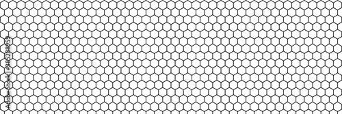 Fotografiet Honeycomb hexagon vector pattern background
