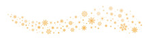 Gold Snowflakes And Stars On A White Background. New Year Illustration