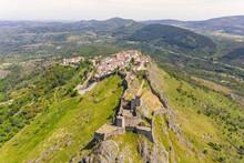 Aerial View Of Santa Maria De Marvão, Portugal.