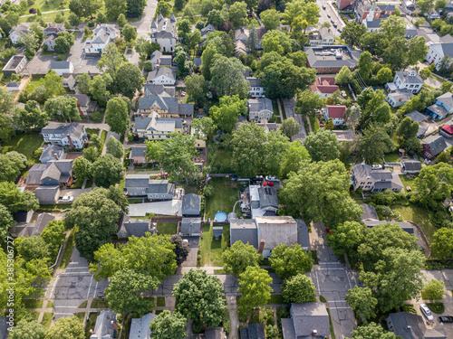 Fotografie, Obraz Hudson Ohio aerial photography, Hudson
